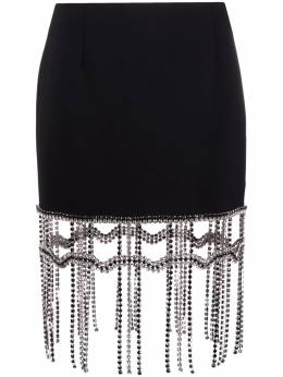 Area crystal-fringed mini skirt SS21S01032