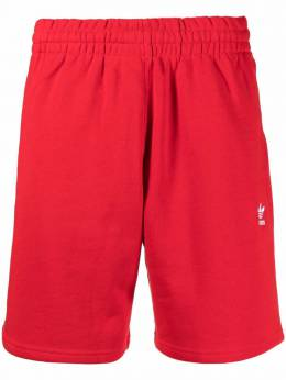 Adidas embroidered-logo cotton track shorts GD2556