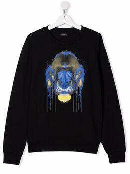 Marcelo Burlon Kids Of Milan TEEN monkey-print cotton-blend sweatshirt 20020020