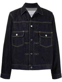 Fumito Ganryu джинсовая куртка с контрастной строчкой FU5BL02