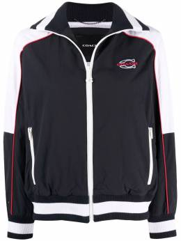 Coach embroidered-logo sports jacket C5005