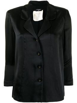 Chanel Pre-Owned рубашка с логотипом на пуговицах 028943445V506P03445V0350690294305