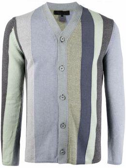Comme Des Garcons Shirt striped V-neck cardigan FGN001