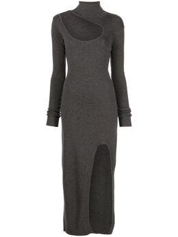 Monse платье миди с вырезом MF200165VCT