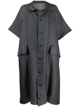 Yohji Yamamoto платье-рубашка оверсайз FSD523001