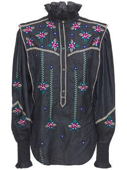 Вышитая Блуза Из Шелка Isabel Marant 74I1JT028-MDJGSw2
