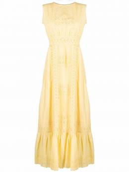 Etro embroidered sleeveless maxi dress 142149433
