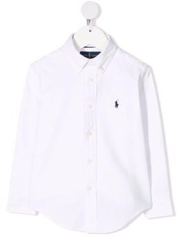 Ralph Lauren Kids Polo Pony-embroidered cotton shirt 321799000