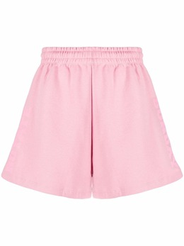 Rotate organic cotton embroidered-logo shorts RT477