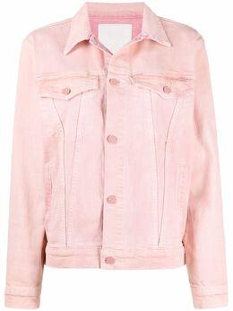 Mother двухцветная джинсовая куртка 3941544