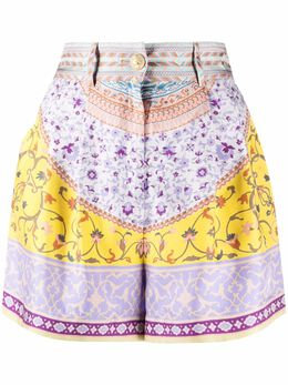 Etro floral tailored silk shorts 141144422