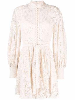 Zimmermann lace-patterned shirt dress 1929DCAS
