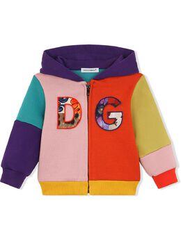 Dolce & Gabbana Kids худи в стиле колор-блок с логотипом L2JW3PG7YQH