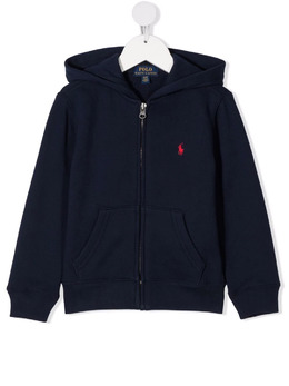 Ralph Lauren Kids Polo Pony zipped hoodie 321547626