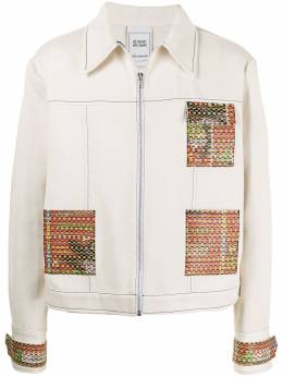 Bethany Williams zipped contrast-patch jacket BWSS21001