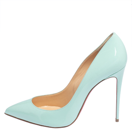 Christian Louboutin Turquoise Patent Leather So Kate Pumps Size 40.5 428530