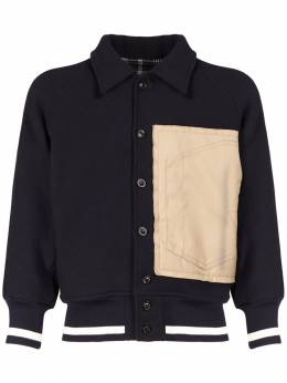 Шерстяная Куртка Varsity С Аппликацией Maison Margiela 74IL6V002-NTEx0