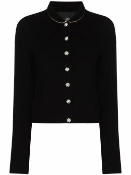 Marc Jacobs jeweled-button knitted cardigan N611W08RE20EmbellishedWool