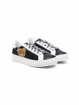 Moschino Kids Teddy Bear patch low-top sneakers 67497