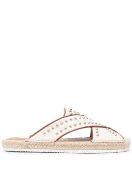 See By Chloe studded crossover strap espadrilles SB36101A13180
