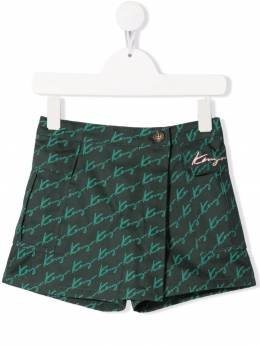 Kenzo Kids logo tailored shorts K14036
