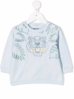 Kenzo Kids tiger logo-embroidered sweatshirt K95009