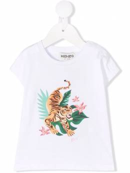 Kenzo Kids tiger print organic cotton T-shirt K05042