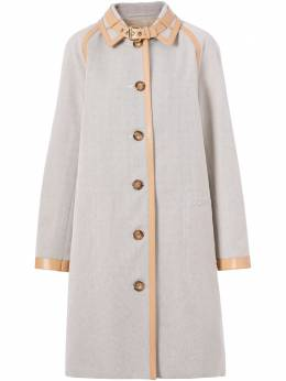 Burberry trimmed single-breasted car coat 8039205