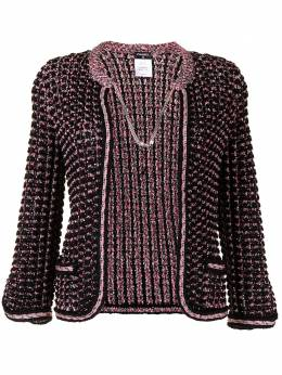 Chanel Pre-Owned chain-link fastening woven jacket P43411K04415