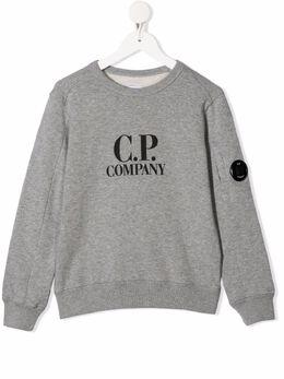 C.P. Company Kids logo-print cotton sweatshirt 10CKSS058A003569W