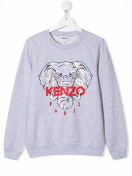 Kenzo Kids logo embroidered sweatshirt K15059A41
