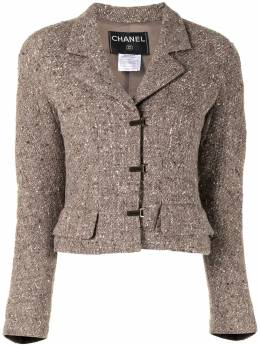 Chanel Pre-Owned notched lapels toggle fastening jacket P13768W02536