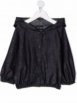 Emporio Armani Kids джинсовая куртка с капюшоном 3K3C043N4GZ