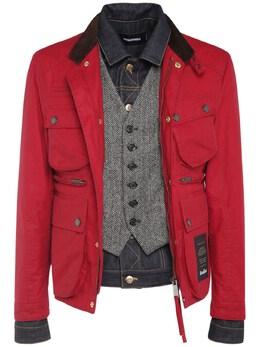 Wax Cotton Boobou Tri Layer Jacket Dsquared2 74I04Y098-MzA10