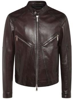 Leather Biker Jacket Dsquared2 74I04Y018-MjI30