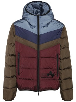 Color Block Nylon Down Jacket Dsquared2 74I04Y016-MjEx0
