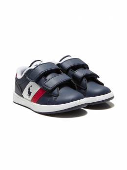 Ralph Lauren Kids Polo Pony-embroidered leather sneakers RF102883