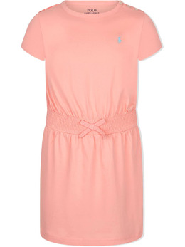 Ralph Lauren Kids Polo Pony-embroidered cotton dress 312837203007A