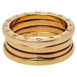 Bvlgari B.Zero1 18K Yellow Gold Three Band Ring Size 60 429966