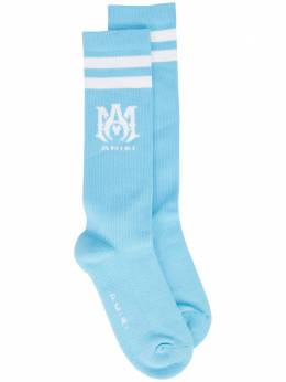 Amiri MA-motif ribbed socks MHR003