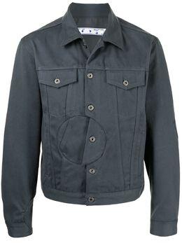 Off-White куртка-рубашка с карманами OMEA288S21FAB0010600