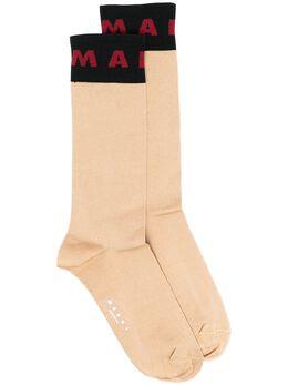 Marni носки с логотипом SKMC0103Q0UFCF09