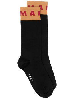 Marni носки вязки интарсия с логотипом SKMC0103Q0UFCF09