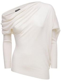 Cashmere & Silk Knit Sweater Tom Ford 74IYAM035-QVcwMDM1