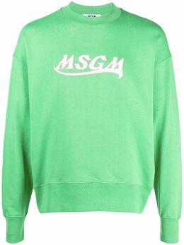 MSGM толстовка с вышитым логотипом 3040MM185217099