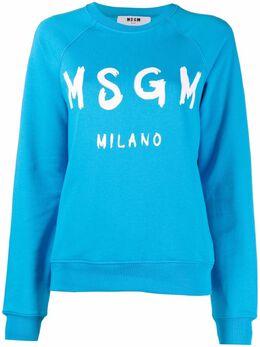 MSGM толстовка с логотипом и рукавами реглан 3042MDM189217499