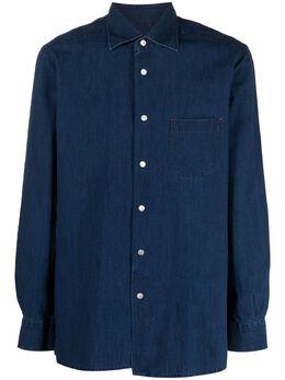 Kiton джинсовая рубашка на пуговицах UMCNERCH076300