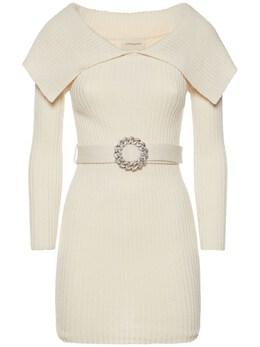 Короткое Платье Из Смешанной Шерсти Giuseppe Di Morabito 74IWW4020-MDI1