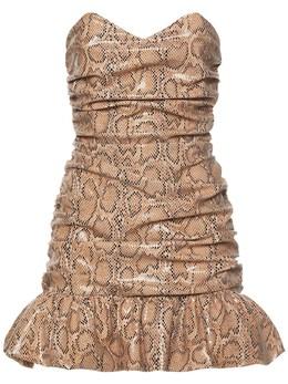 Платье С Принтом Питона Giuseppe Di Morabito 74IWW4016-MDU1