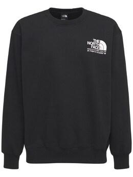 Steep Logo Cotton Blend Sweatshirt The North Face 73IY8Z037-Sksz0